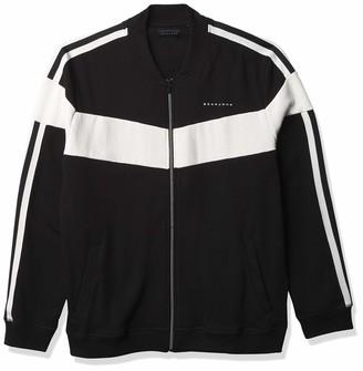Sean John Men's Big & Tall Long Sleeve Zip Front Chevron Colorblock Track Jacket