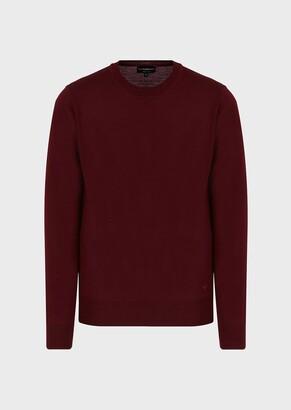 Emporio Armani Plain-Knit, Pure Virgin Wool Sweater