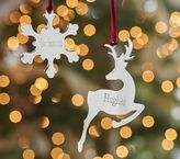 Pottery Barn Kids Silver Personalized Ornaments
