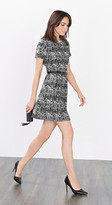 Esprit abstract print dress with pleats