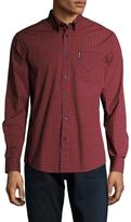 Ben Sherman Fashion Gingham Button-Down Sportshirt
