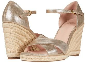 J.Crew Metallic Espadrille Wedge Sandal (Gold/Silver) Women's Shoes