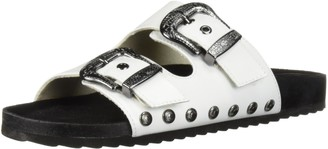 Fergalicious Women's Louie Slide Sandal White 5.5 M US