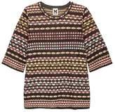 M Missoni Triangle-intarsia Fine-knit Top