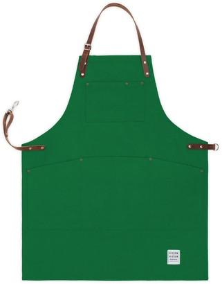 Risdon & Risdon Shropshire Green Canvas & Leather Original Apron