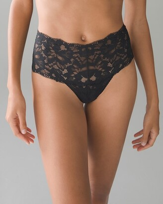 Soma Intimates Signature Allover Lace Retro Thong