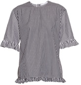 J.W.Anderson Gingham ruffled cotton top