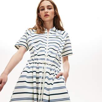 Lacoste Women's Stretch Cotton Pique Zip Polo Dress