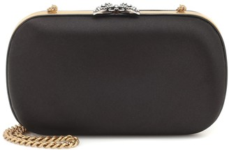 Gucci Broadway embellished satin clutch
