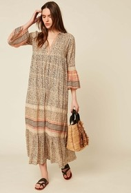 Stella Forest Long Printed Cotton Dress - 36 (8)
