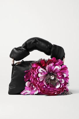 Dries Van Noten Pillow Embellished Satin Tote - Pink