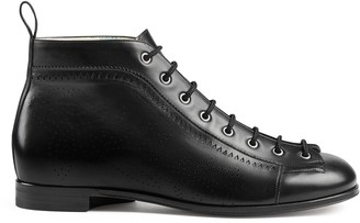 Gucci Men's ankle boot with brogue detail