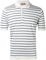 Cruciani striped polo shirt - men - Silk/Linen/Flax - 56