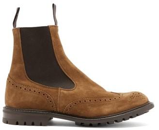 Tricker's Henry Trek-sole Suede Chelsea Boots - Tan