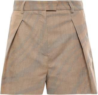 Roberto Cavalli Pleated Cotton-blend Jacquard Shorts