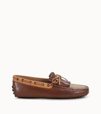 Tod's Gommino Driving Shoes in Leather and Canvas