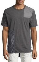 Mostly Heard Rarely Seen Tonal Patchwork T-Shirt, Gray