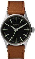 Nixon 'The Sentry 38' Leather Strap Watch, 38Mm