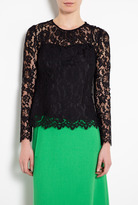 Milly Black Ivy Lace Blouse