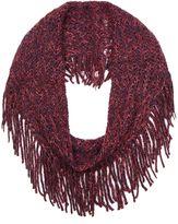 Yumi Black Chunky Knitted Fringe Snood