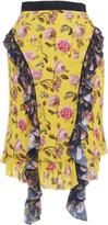 Francesco Scognamiglio Floral Ruffled Knee Length Skirt
