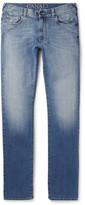 Canali - Slim-fit Washed Stretch-denim Jeans