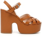 Miu Miu Madras Platform Sandals