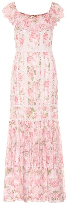 LoveShackFancy Niko floral cotton maxi dress
