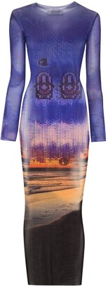 Louisa Ballou Hi Tide mesh maxi dress