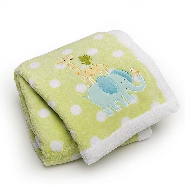 Carter's safari animals velboa blanket