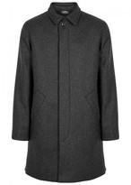 A.p.c. New England Charcoal Wool Blend Coat