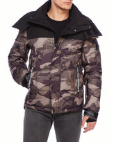 Superdry Camouflage Box Quilted Hooded Coat