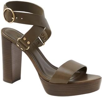 Banana Republic High Block-Heel Sandal