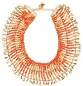 Rosantica Indios Beaded Necklace - Womens - Orange
