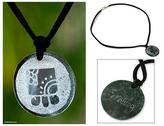 Hand Crafted Nahual Pendant Jade Necklace, 'Kawoq Maya Union'
