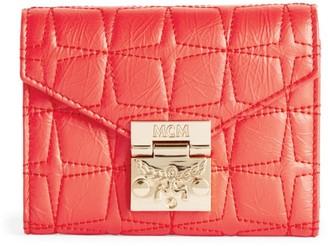 MCM Small Patricia Visetos Padded Wallet
