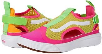 Vans Kids UltraRange Glide (Little Kid) ((Mesh) Neon Block/True White) Girls Shoes