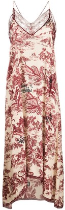 Zadig & Voltaire Jouy lace-trim slip dress