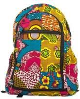 Multicolor Cotton Batik Patterned Backpack from Ghana, 'Krokrobite'