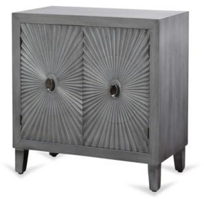 Stylecraft Starburst Design Two Door Wood Cabinet