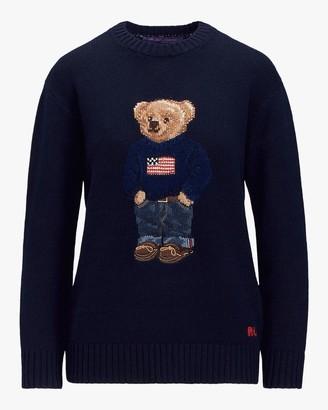 Ralph Lauren Collection Flag Bear Sweater