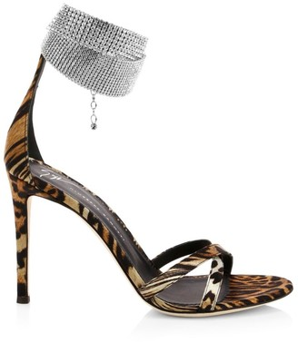 Giuseppe Zanotti Embellished Strap Criss-Cross Sandals