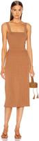 Cushnie Sleeveless Midi Fit and Flare Dress in Camel | FWRD