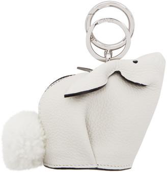 Loewe White Bunny Charm Keychain