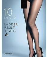 John Lewis 10 Denier Smooth Ladder Resist Tights, Pack of 1