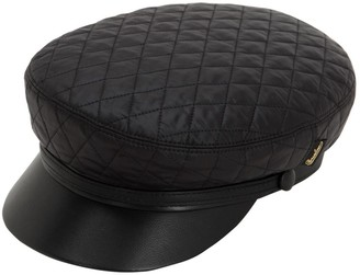 Borsalino Leather & Quilted Nylon Sailor Hat