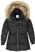 SAM. Girls' Fur-Trimmed Puffer Jacket