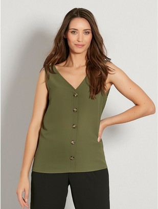 M&Co Button front sleeveless top