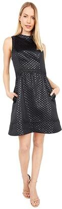 Lilly Pulitzer Zaria Dress (Onyx Polka Dot Jacquard) Women's Dress