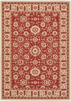 "Safavieh Courtyard Collection CY6126-28 Red and Cream Indoor/ Outdoor Area Rug, 2 feet 7 inches by 5 feet (2'7"" x 5')"